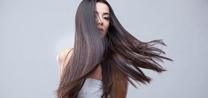 Кератиновое выпрямление, лечение волос с укладкой Botox-терапии в «Helena Exclusive & BSS»