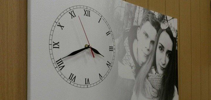 Печать на холсте с установкой часового механизма от студии фотопечати «Натали»
