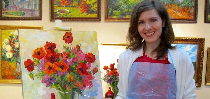 До 4 занятий масляной живописью в творческой мастерской «Безмежність»