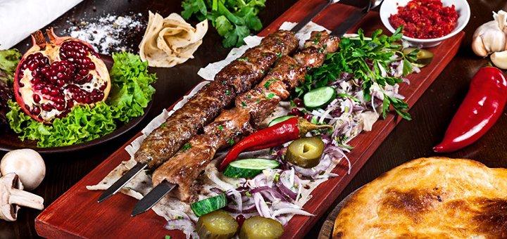Скидка 50% на все меню кухни в грузинском ресторане «Shardeni»